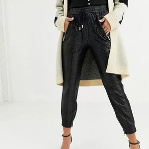 Blank NYC   Faux Leather Patent Slouchy Joggers